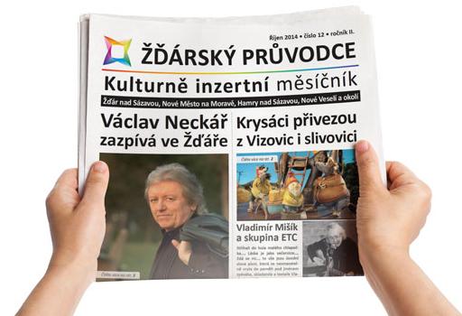Kulturně inzertní měsíčník Žďárského průvodce