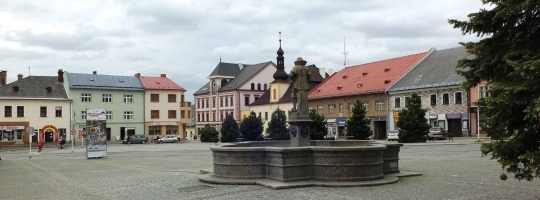 Náměstí v Novém Městě na Moravě