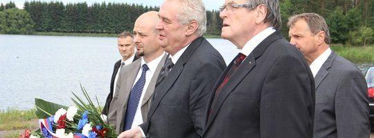 Prezident Miloš Zeman při otevření naučné stezky v Novém Veselí