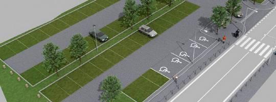 Nové parkoviště Zámek Žďár nad Sázavou