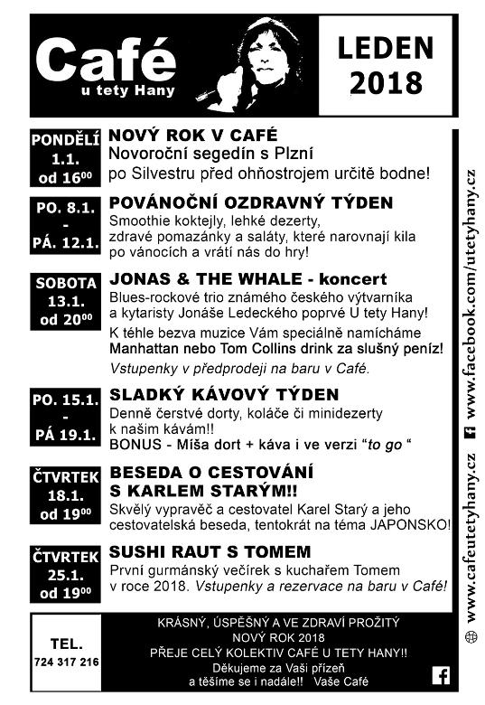 Cafe U Tety Hany - program 012018