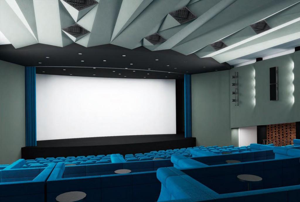 Kino Vysočina Žďár nad Sázavou, studie interiéru