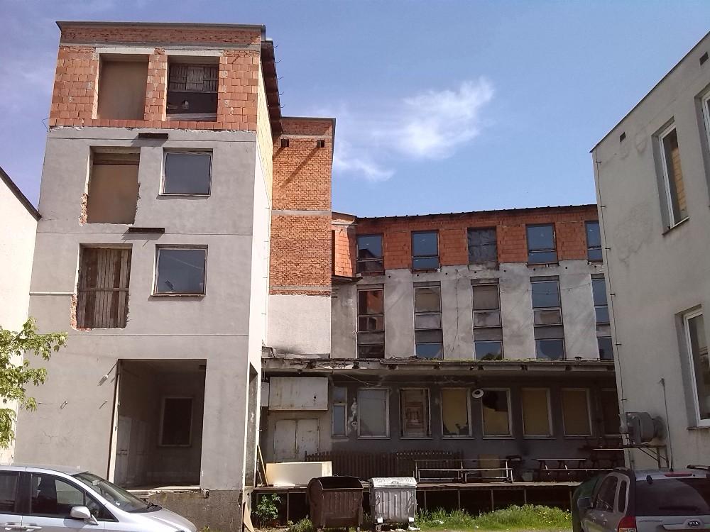 Hotel Bílý lev Žďár nad Sázavou, zadní část