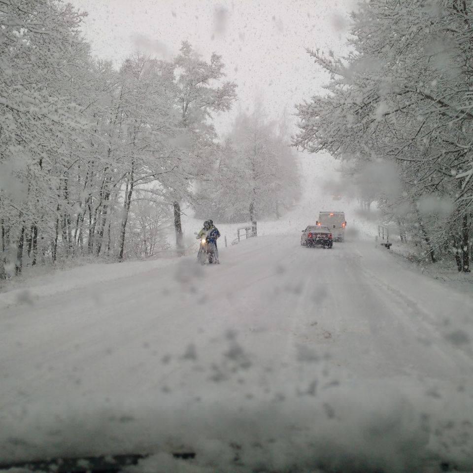 Silnice č. 19, směr Nové Město na Moravě