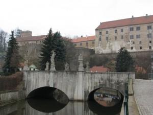 Židovský most a zámek Brtnice