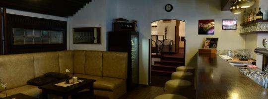 Interiér v Radniční restauraci ve Žďáře nad Sázavou