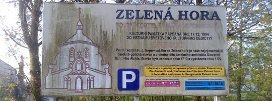 Informační cedule Zelená hora ve Žďáře nad Sázavou