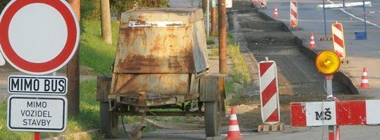Oprava silnice, zákaz vjezdu