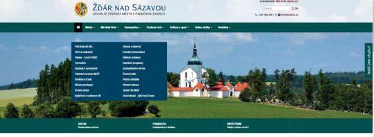 Webové stránky města Žďár nad Sázavou