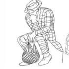 Návrh sochy Muž se síťovkou