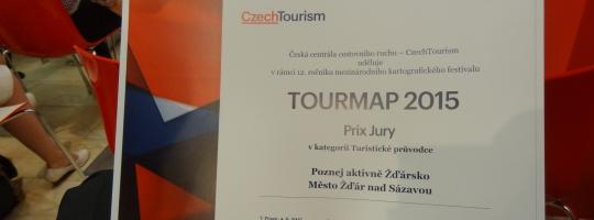 TOURMAP 2015 - ocenění propagačních materiálů Pilák Žďár nad Sázavou