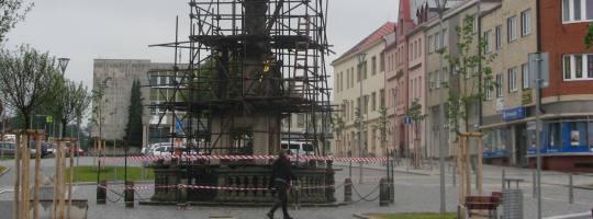 Oprava sloupu Nejsvětější trojice ve Žďáře nad Sázavou