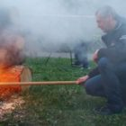 Ladislav Bárta - zapalování čarodějnic 2015 Žďár nad Sázavou