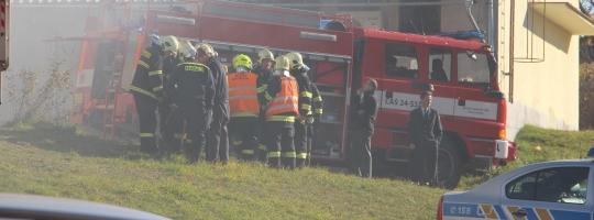 Požár pyrotechniky ve Žďáře nad Sázavou