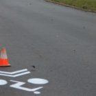 Pruh pro cyklisty - ulice Neumannova Žďár nad Sázavou
