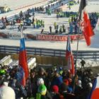 Pohled z tribuny Vysočina arény při biatlonu 2015