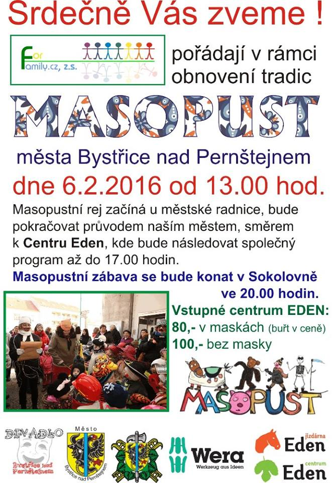 Eden centrum - Masopust 2016