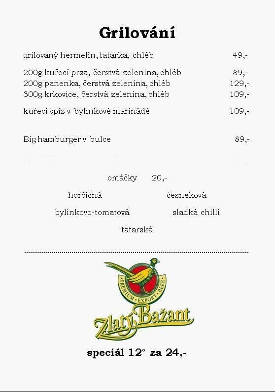 Grilování - Restaurace Pavlač