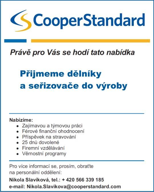 CooperStandard  - pracovní nabídka