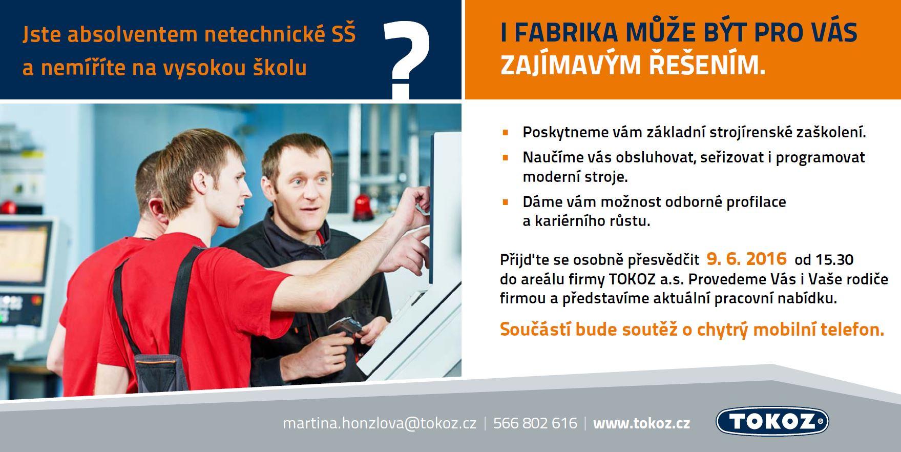 Tokoz a.s. - volná pracovní místa